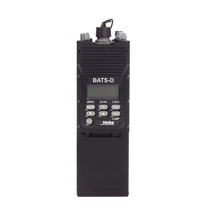 Front view of the BATS-D battlefield awareness radio without antennas attached