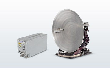 Satellite terminal product image of the GAT-5518, a Ka-band terminal