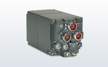 Satellite terminal product image of a small tactical terminal