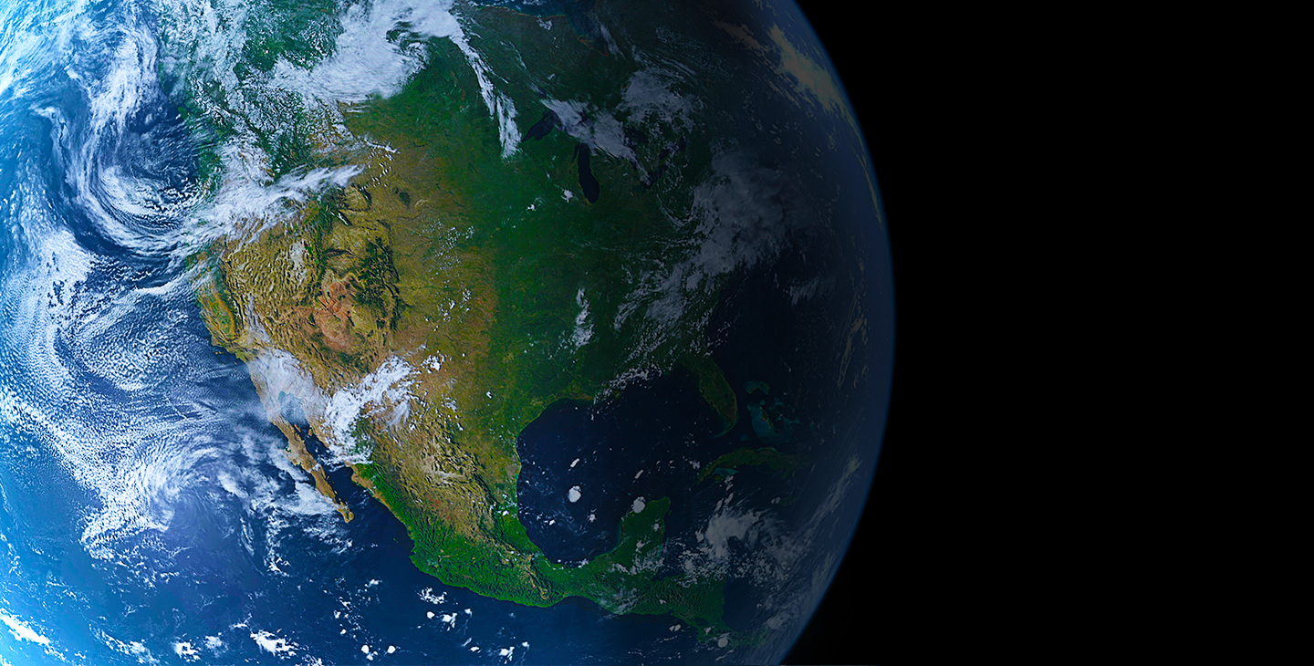 View of North America from space