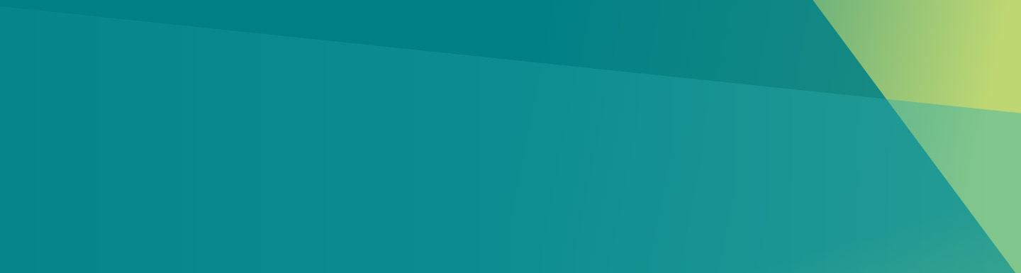 Aqua blue gradient background with angular features in the corner